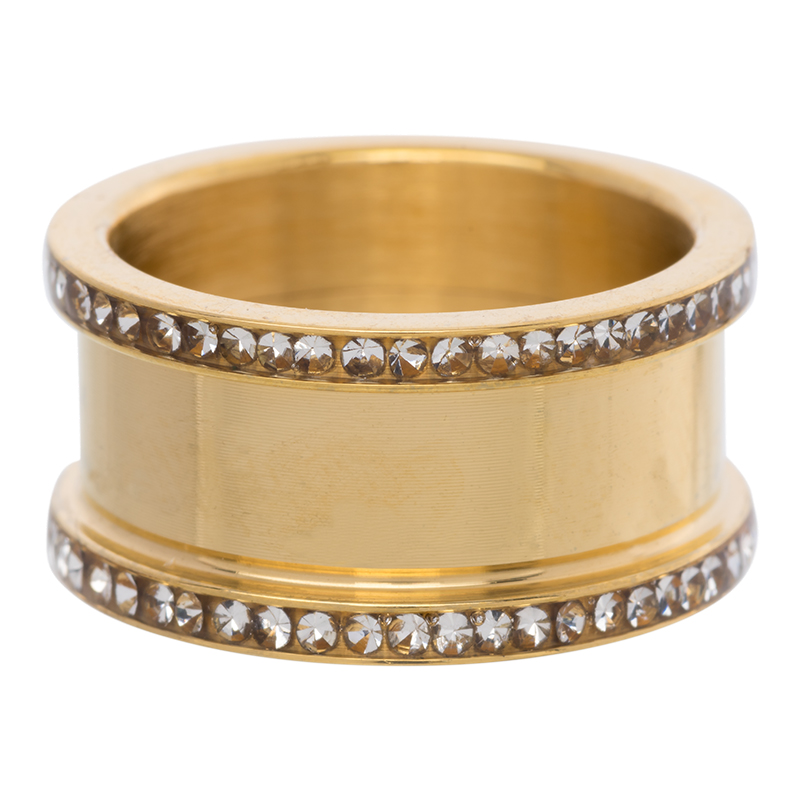 Base ring 10 mm with stones Gold