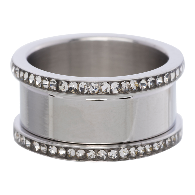 Base ring 10 mm with stones Silver