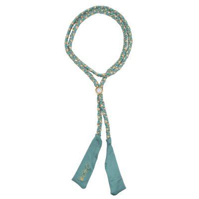 BOHO The Long Braided Ribbon Sage-Green & Gold